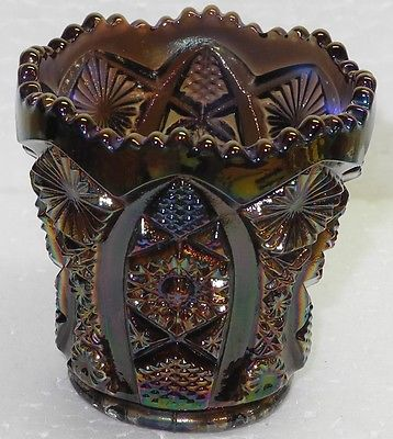 Imperial Glass Octagon Toothpick Holder Indigo Carnival