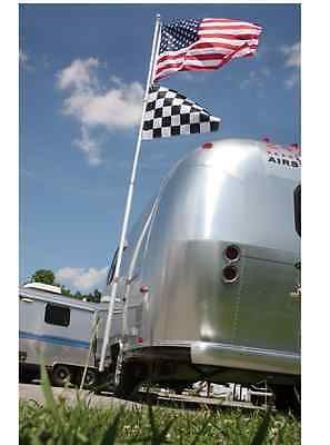 New Camco Telescoping Flagpole Kit with Flag, Pole, Aluminum, 20 Ft, Camping,