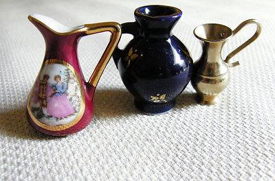 Miniature Dollhouse Pitcher Vases