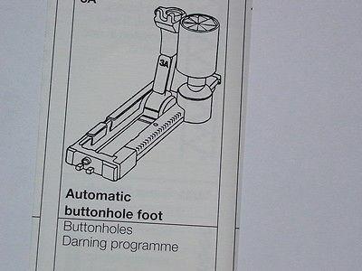 Bernina Automatic Buttonhole Foot #3C Fits Bernina 1230, 1530 plus many more