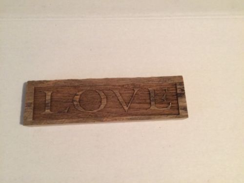 Rough Rustic 100+ Years Old LOVE Barn Wood Sign Wall Art