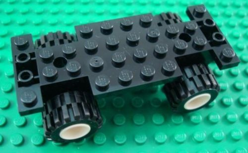 LEGO Black Car Base with Medium Tires