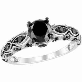 1 3/8 Ct Black Diamond Wedding