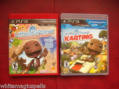 PS3 PlayStation LITLEBIGPLANET KARTING GET FREE LITLEBIG PLANET GAME OF THE YEAR