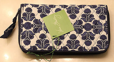 Vera Bradley Accordion Wallet Cobalt Tile Brand New with Tags
