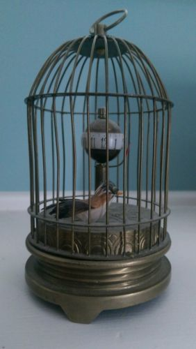 Japanese Brass Bird Cage Clock 5 inches Tall