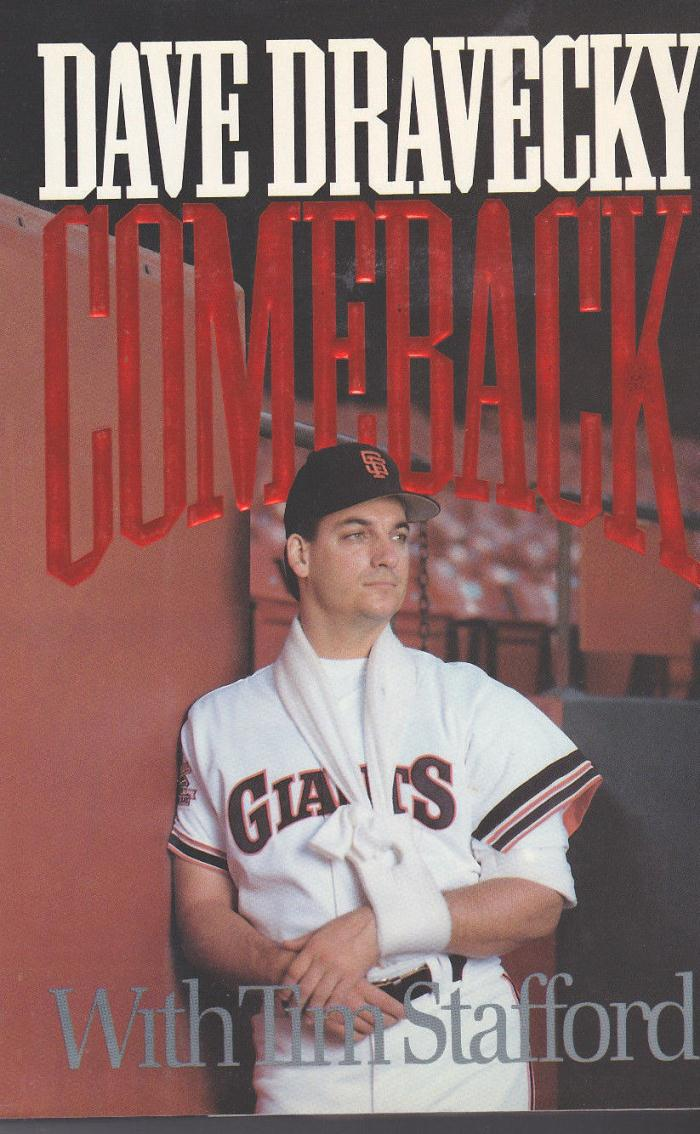 DAVE DRAVECKY book COMEBACK  Signed left handed 1st & then right handed later