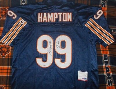 NFL Football Dan Hampton Autographed Chicago Bears Throwback Signed Jersey