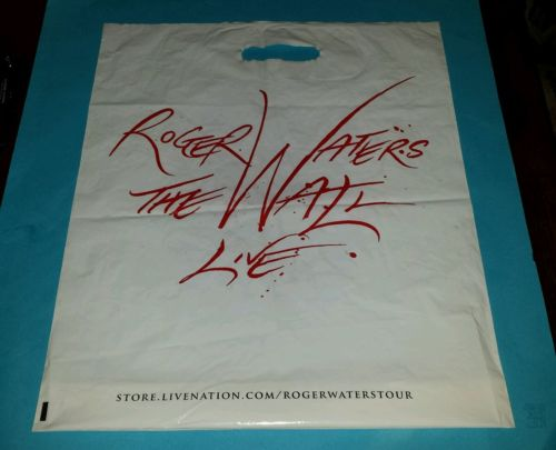 ROGER WATERS - THE WALL LIVE 2010 18 x 15 INCH PLASTIC BAG - RARE