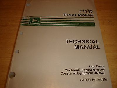 John Deere F1145 Service Manual