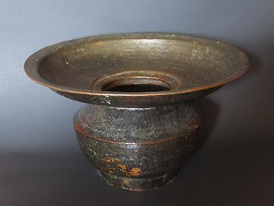 Antique Brass hand hammered Spittoon, Northern India