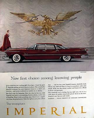 1958 Chrysler Imperial Red vintage print ad