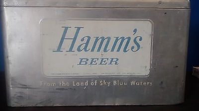 VINTAGE Hamm's Beer Aluminum Ice Chest Cooler Cronstroms Manufacturing