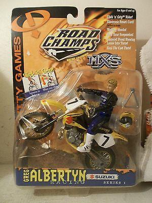 2000 JAKKS MXS GRAVITY GAMES GREG ALBERTYN #7 TEAM SUZUKI RM250 MOTOCROSSER