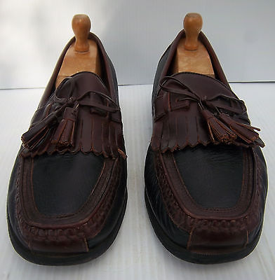Men's Johnston & Murphy Black/Brown Loafers Shoes -- Size 11W US