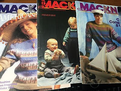 5 Macknit Knitting Magazines for Knitting Machine