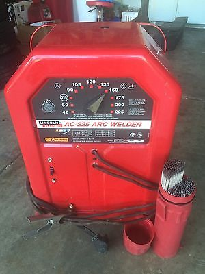 Lincoln AC-225 Stick Welder with Rods and Rod case