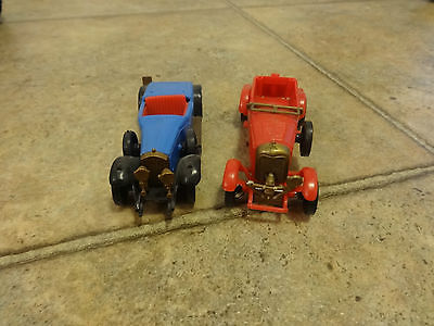 2 Cle France Plastic Toy Cars Rolls Royce & 1929 Bentley Vehicle Toys