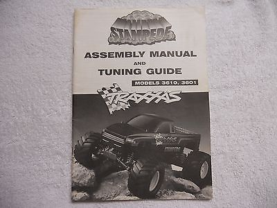 Vintage Traxxas Stampede 3610, 3601 Monster Truck Original Assembly Manual