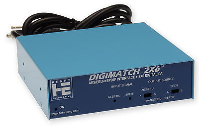 Henry Engineering Digimatch 2x6 S/PDIF AES/EBU Converter Distribution Amplifier