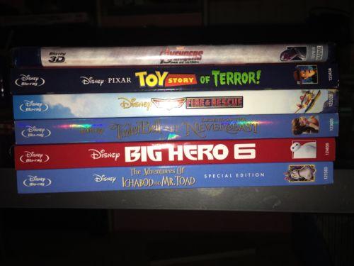 5 Blu-Ray Disney Movies