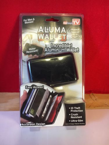 As Seen On TV Alluma Wallet New,  Black