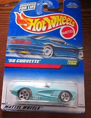 1997 HOT WHEELS '58 CORVETTE COLLECTOR #780