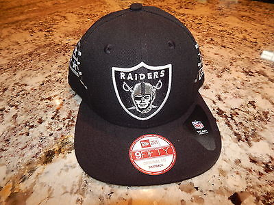 New Era 9Fifty NFL Oakland Raiders Original Fit snapback Hat Black Cap