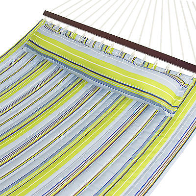 Hammock Quilted Fabric With Pillow Double Size Spreader Bar Heavy Duty Stylish