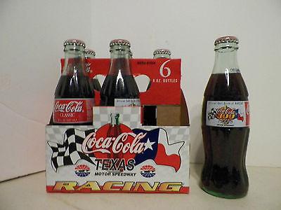 Coca Cola coke 6 bottles with carrier Tx Motor Speedway Coca Cola 300 Nascar