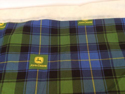 John Deere Twin Bed Skirt Tartan
