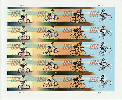 BICYCLING STAMP SHEET -- USA, #4687-4690, FOREVER 2012