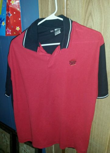 Pizza Hut Pizza Employee Polo-type Crew Shirt Size Large
