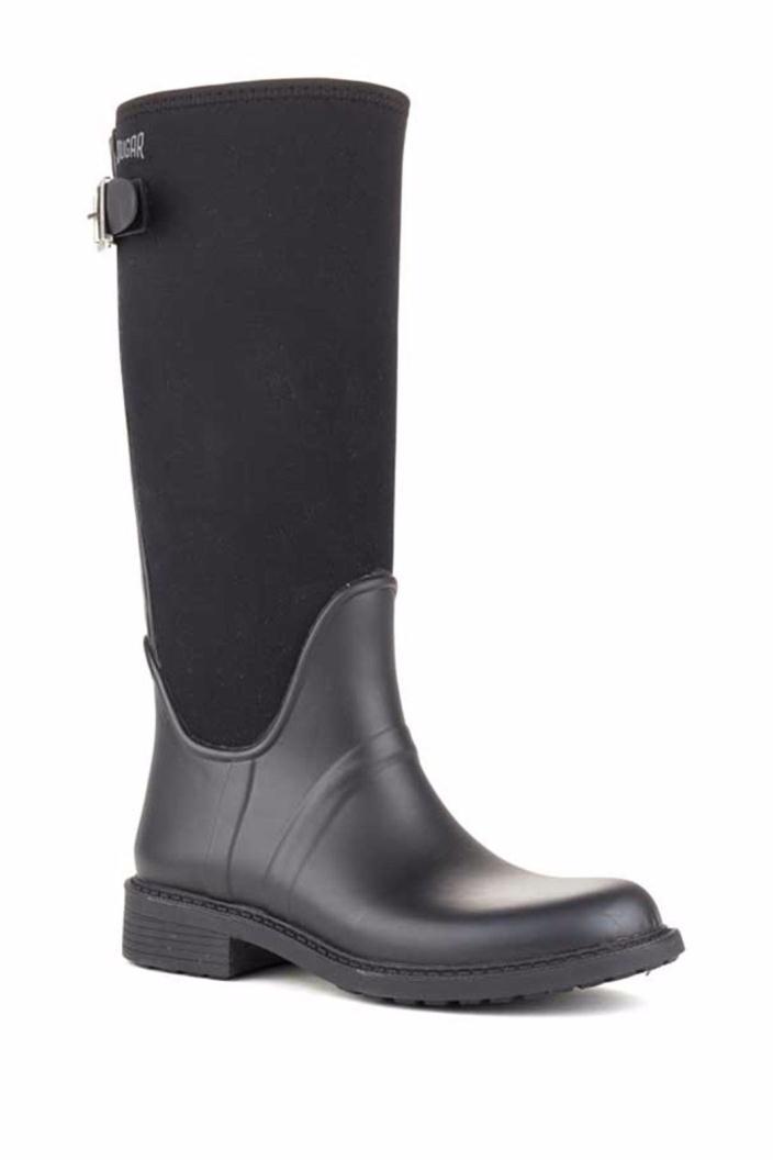 Cougar Keaton Waterproof Tall Neoprene Rain Boot Size 9 Black Retail $130