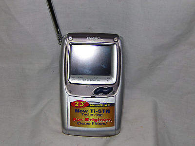 CASIO TV-970B UHF VHF Handheld LCD COLOR TV TELEVISION TESTED EXC COND
