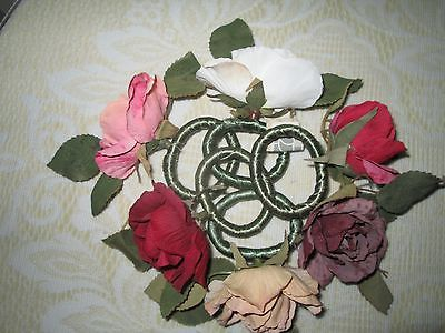 SIX ROSE FORMED NAPKIN RING HOLDERS