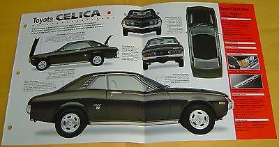 1970 1972 1973 1971 Toyota Celica GT 4 Cylinder 1968cc IMP Info/Specs/photo 15x9