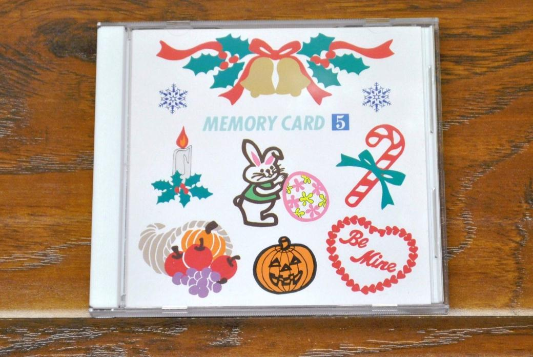 Holiday Designs Embroidery Memory Card #5 Janome Memory Craft 9000