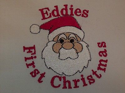 Personalized Embroidered Baby's First Christmas Blanket