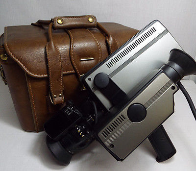Vintage Toshiba Tube Camcorder IK-1850 - As-is w/ Old Leather Journalist Case