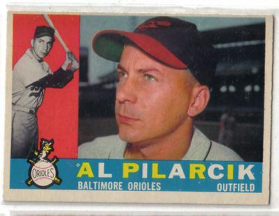 1960 Topps Baseball #498 Al Pilarcik, Orioles
