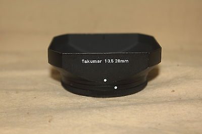 ORIGINAL PENTAX RECTANGULAR LENS HOOD SHADE FOR TAKUMAR 28mm 2.8 LENS 6225