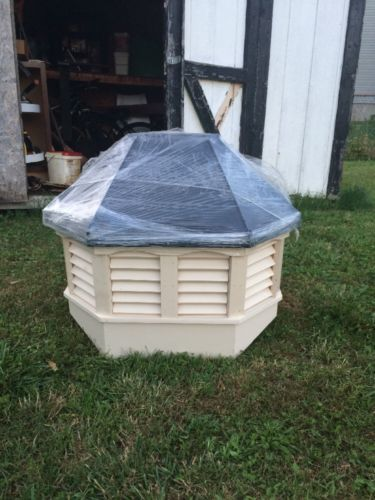Cupola Vinyl  Exterior Black Metal Roof  8 Sided Nice!