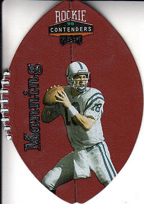 1998 Playoff Contenders Leather #37 Peyton Manning - NM-MT