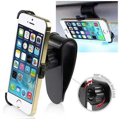 Car Sun Visor Holder Mount Stand For Samsung Galaxy S4 S5 iPhone 4 5 6 Plus