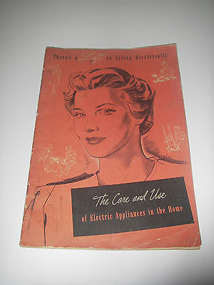 MANUAL Boston Edison/Westinghouse 1942 Care Use of Electric Appliances in Home