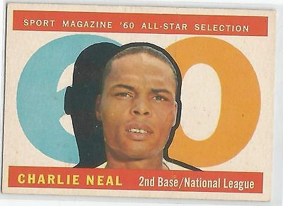 1960 Topps Baseball #556 Charlie Neal, Dodgers AS HI#