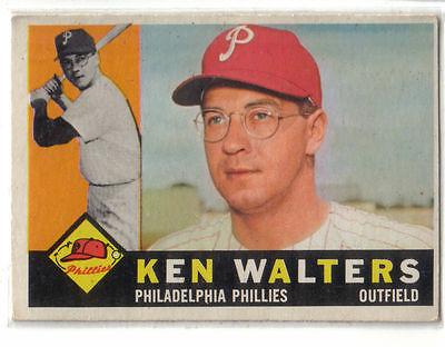 1960 Topps Baseball #511 RC KEN WALTERS, PHILLIES HI#