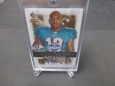 2007 SP Rookie Threads TED GINN JR. Draft Day Ink Auto 0494