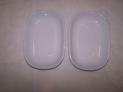 Two Corning Ware White  SIDEKICKS Dish Bowl #P-140-B Oven & Microwave Safe USA